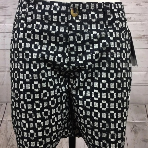 Lee Pants - Lee SZ 4 Mid Rise Geo Pattern Casual Shorts New